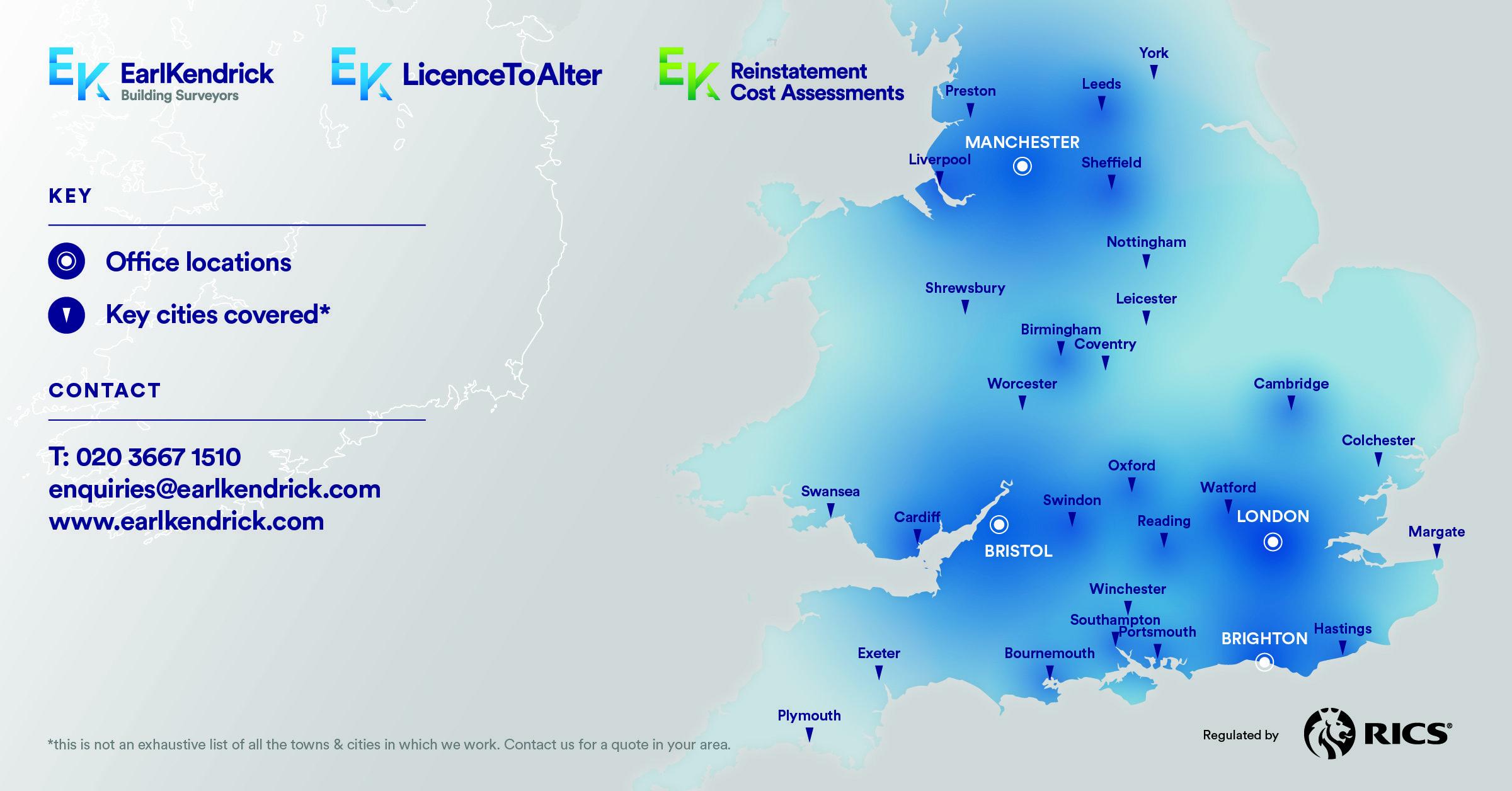EKA Office Regions & Coverage